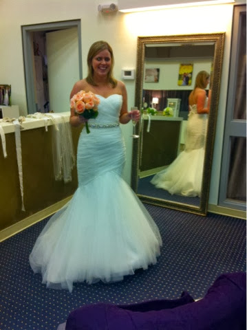 trumpet style wedding gown