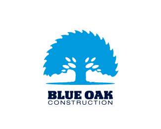 Blue Oak Constructions Logo