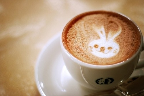 pretty bunny coffee art