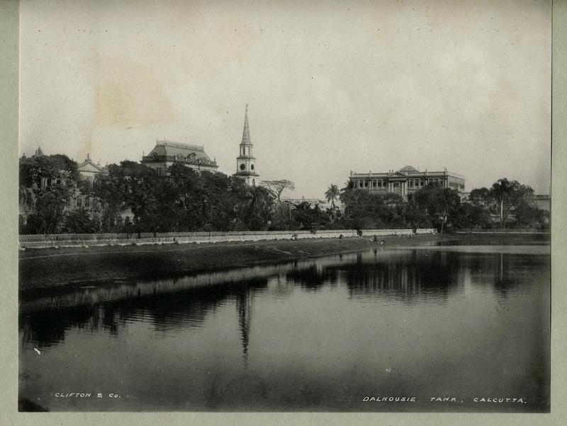 Dalhousie Tank ( Lal Dighi) Calcutta (Kolkata) - 1890's