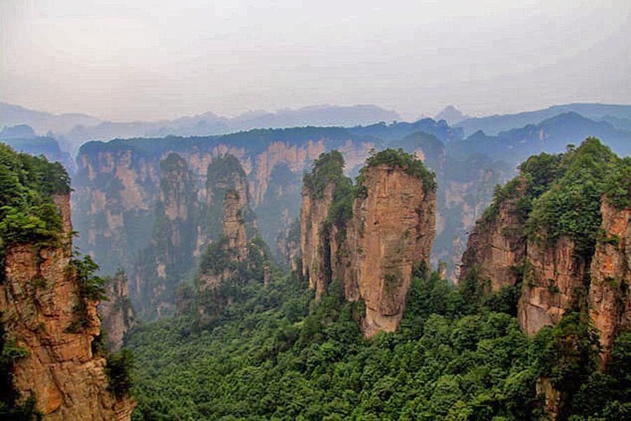 Parque natural de Zhangjiajie, China, otra de las maravillas naturales del mundo