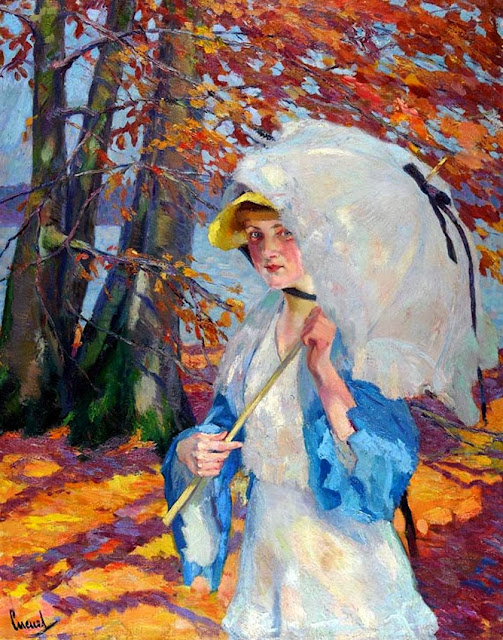 Edward Cucuel - Lady with a Parasol, 1914