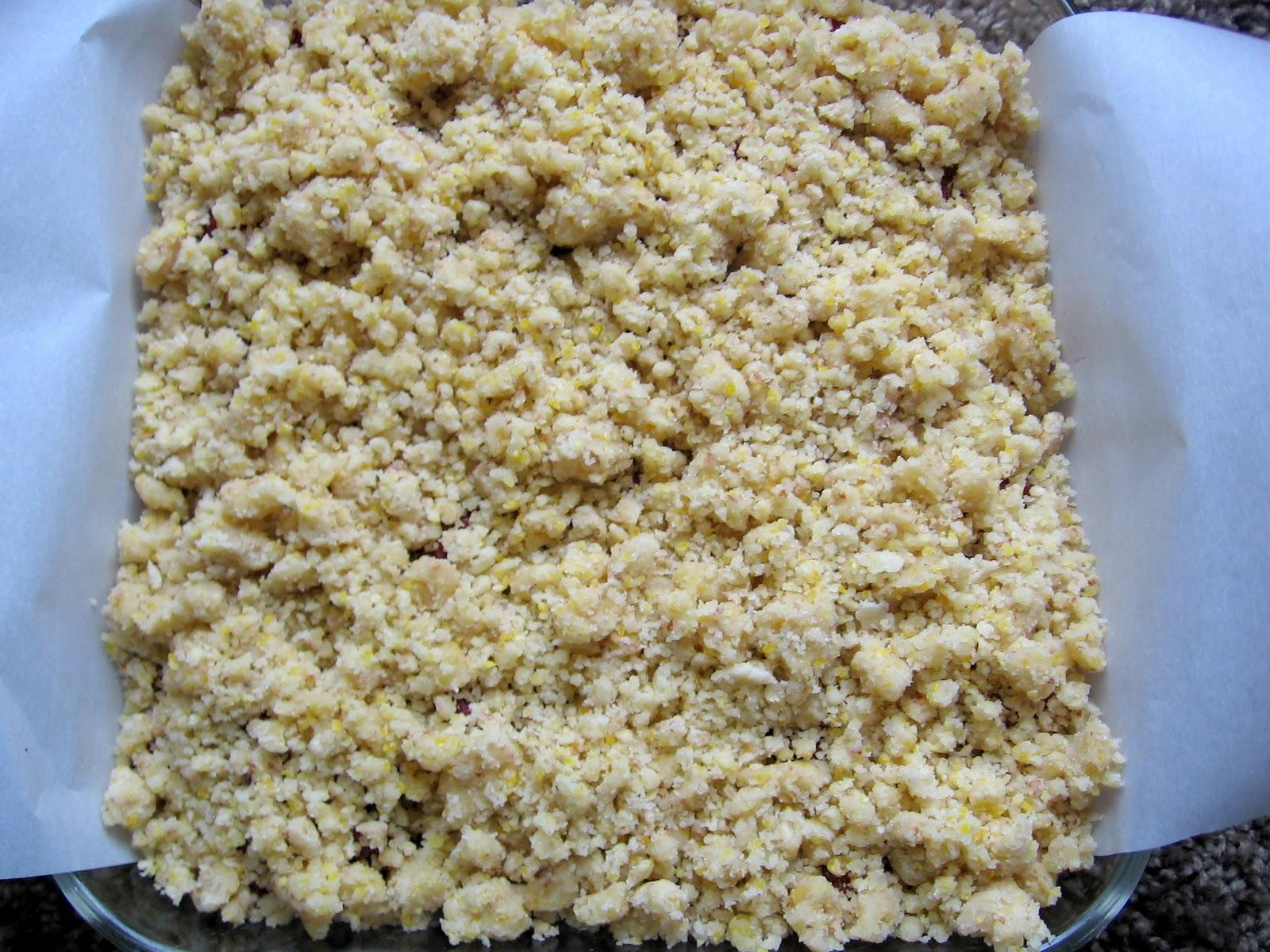 Food Tastes Good!: Raspberry Cornmeal Crumble Bars