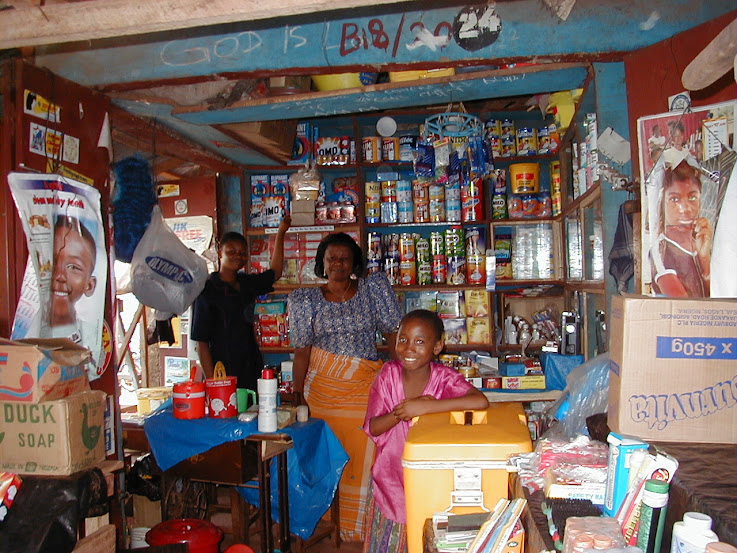 Household goods for sale in the market