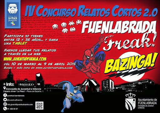 """IV Edición del Concurso de Relatos Cortos 2.0 """"Fuenlabrada Freak""""."""