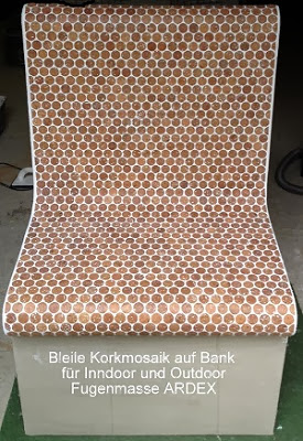 kork mosaik sonderposten wandbelag 29 x 58 cm st rke 3mm durchmesser 24mm ebay. Black Bedroom Furniture Sets. Home Design Ideas