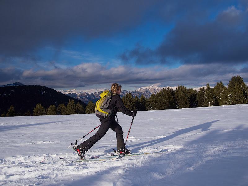 Lliscant sobre la neu als Rasos de Baix