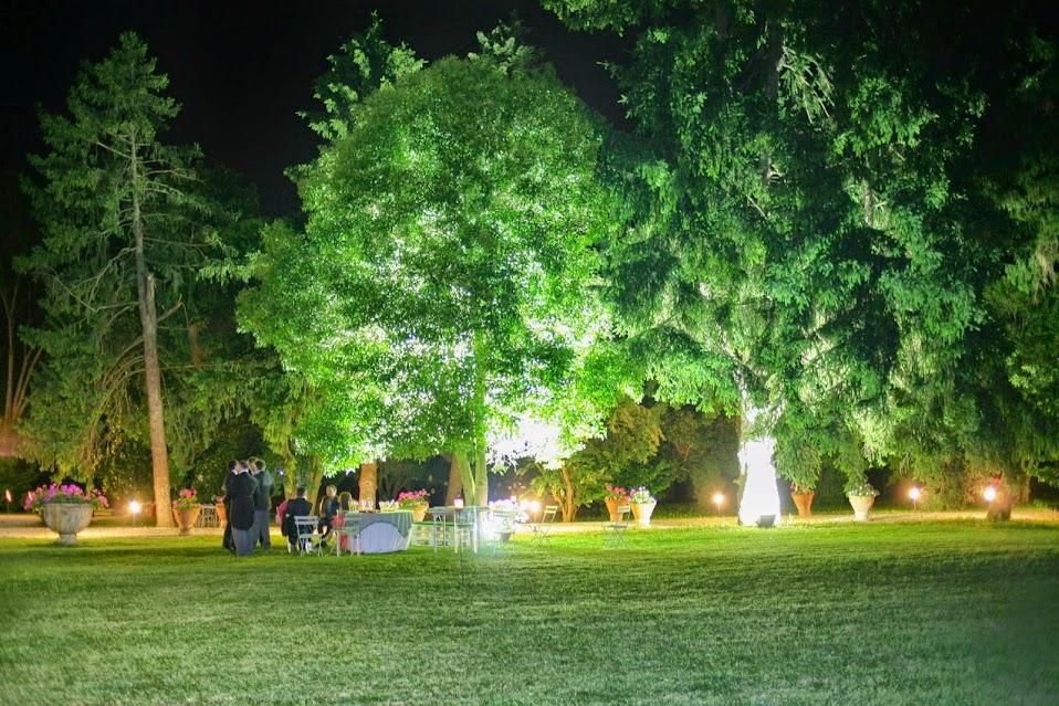 miniatura galleria villa valcorba di notte