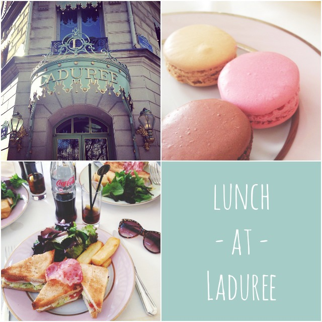 Lunch at Laduree in Paris
