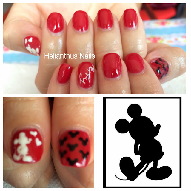 Gel Polish: Mickey Mouse , Diploma homework | Helianthus Nails