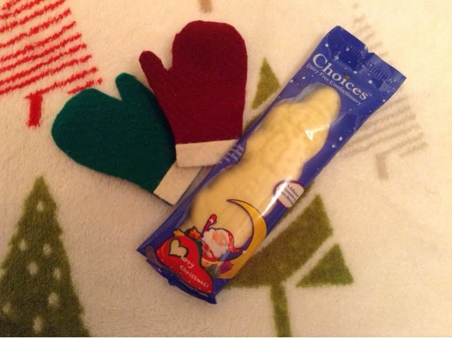 Choices vegan dairy free white chocolate santa
