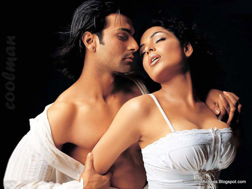 Meera With Ashmit Patel Hot Boobs With Transparent White -6076