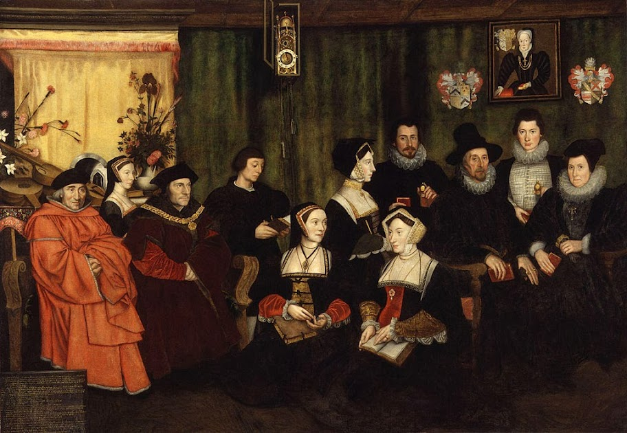 Hans Holbein the Younger - Sir Thomas More, his father, his household and his descendants
