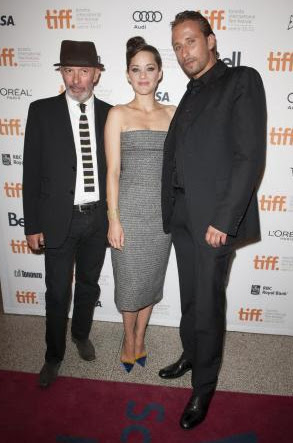 Marion Cotillard with Jacques Audiard and Schoenaerts Matthias