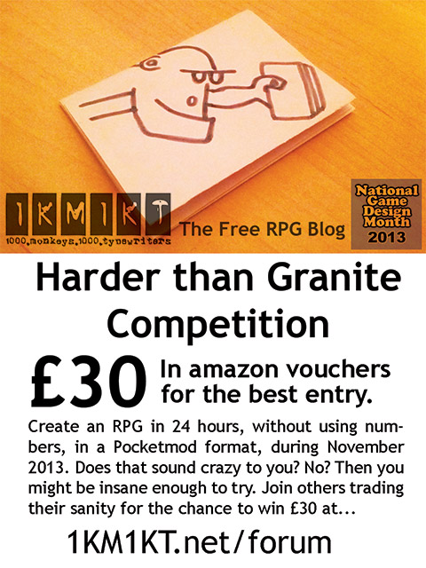 Hard as granite 24 hour RPG contest