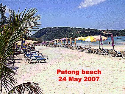 Patong Beach on Phuket Island in Thailand