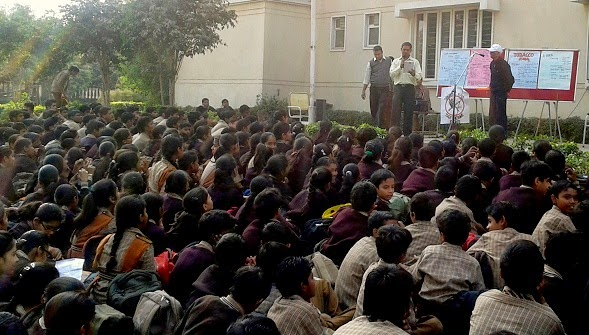 Awareness Lecture at SBM School, Karampura, Delhi