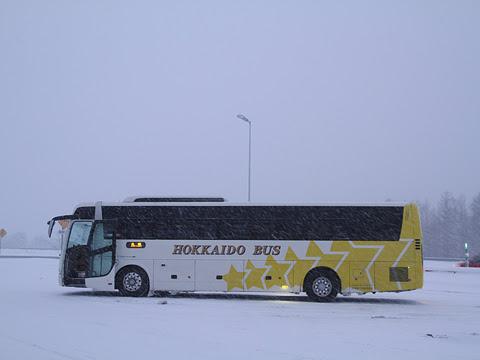 北海道バス「釧路特急ニュースター号」・993 占冠サービスエリアにて