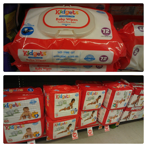 Kidgets Diapers and Wipes at Family Dollar