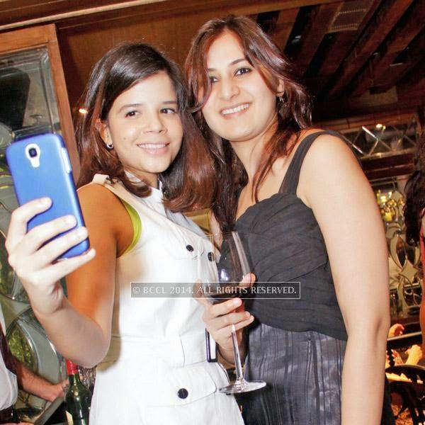 It was all about at fun and good food at Farzi Cafe, Modern Indian Bistro in Cyber Hub, Gurgaon. Natasha (L) and Ikam during the party.
