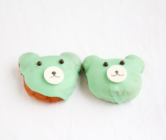 photo of two bear-shaped donuts
