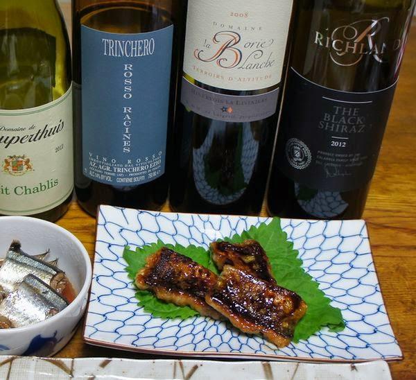 秋刀魚の蒲焼と南仏の赤ワインが合います