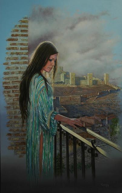 Corazón de otro tiempo,pintura retrato de Pedro Vergara