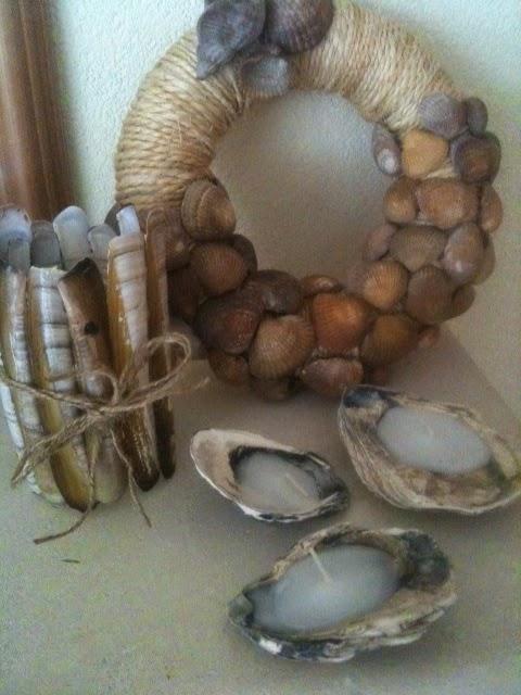 Zelf een windlicht en kaarsjes van schelpen maken