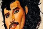 painting Freddie Mercury - It's a Hard Life -