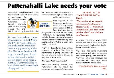 Puttenahalli Post 07-Apr-2012