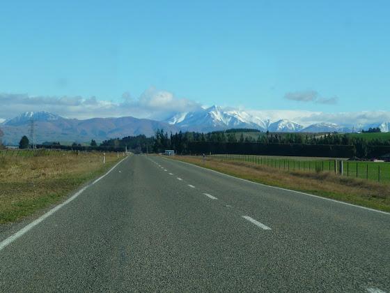En la carretera hacia Queenstown en Nueva Zelanda