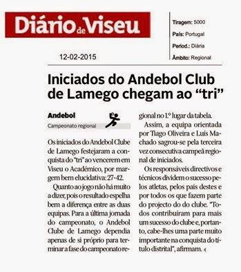 Iniciados dos Andebol Club de Lamego chegam ao