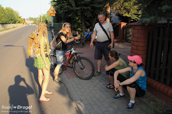 Mała przerwa w wycieczce rowerowej