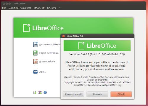 LibreOffice 3.6 su Ubuntu