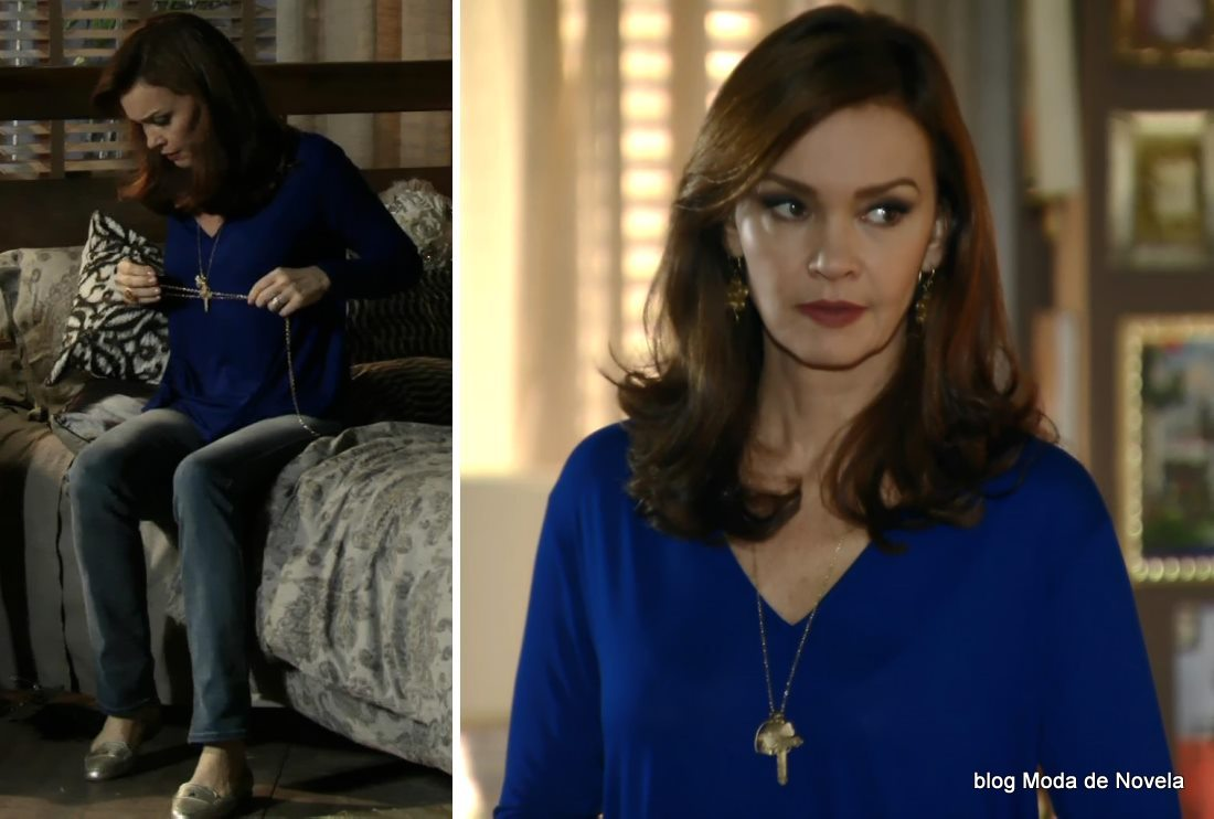 moda da novela Em Família - look da Helena dia 19 de maio