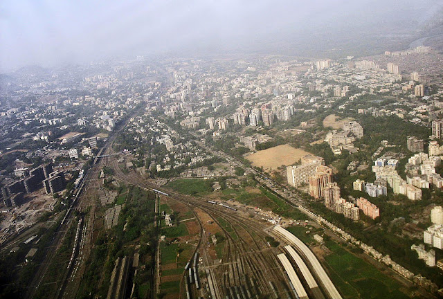 mumbai railway yard view
