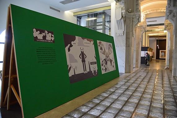 Javier Arce muestra 'su' ciudad en un gran cómic mural en CentroCentro