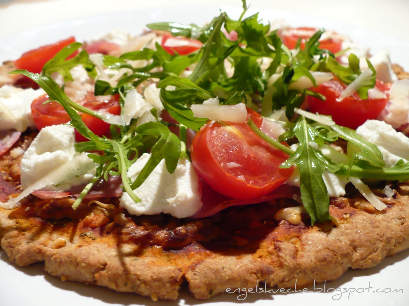 Essen Aus Engelchens Küche Quark öl Teig Pizza Mit Rucola Ricotta