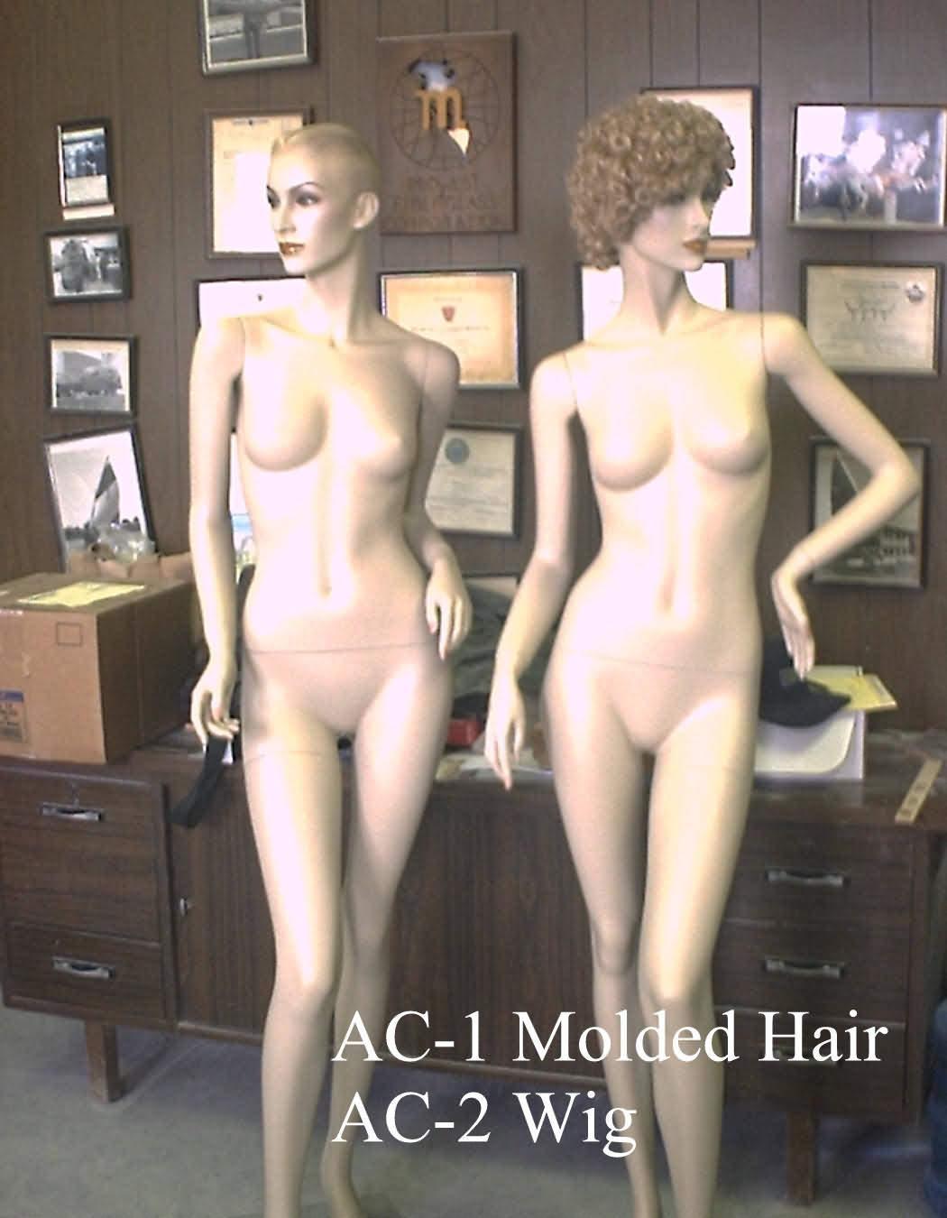 Два таинственных женственных манекена