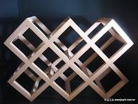裝潢五金 品名:木製酒瓶架(菱型) 規格:尺寸訂製 顏色:鐵刀/白橡/花梨 玖品五金