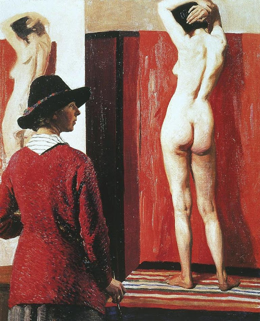 Laura Knight - Self Portrait and Nude