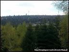 Na zdjęciu z daleka widać szczyt Wielka Sowa z charakterystyczną wieżą widokową przypominającą latarnie morską.
