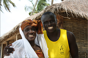 Lamine con su madre