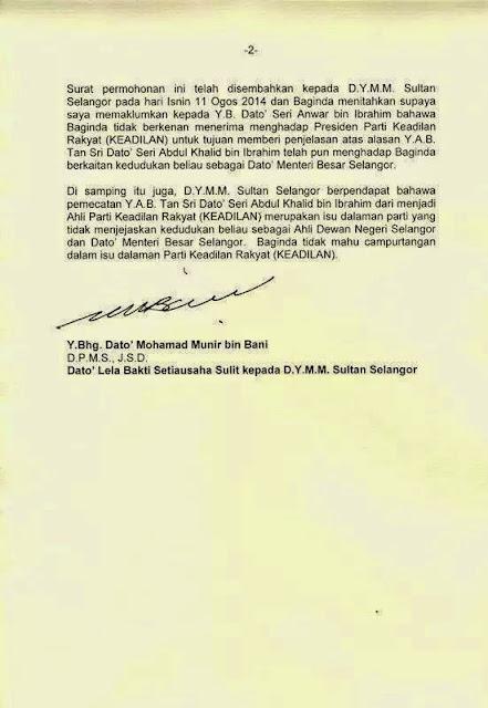 Kenyataan Akhbar Pejabat Sultan Selangor