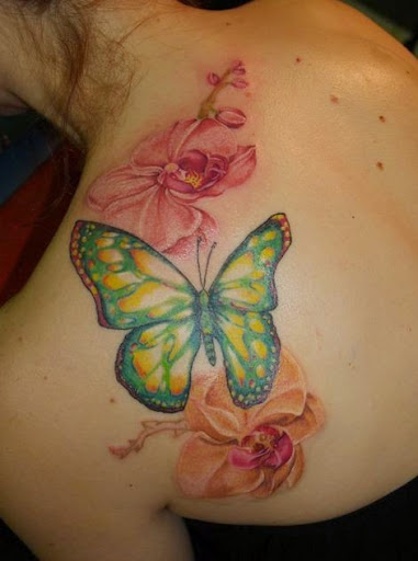 Butterfly Tattoos for shoulder