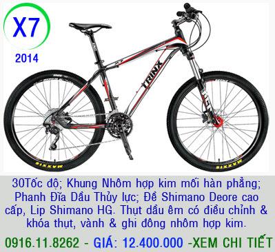 XE ĐẠP THỂ THAO, xe dap the thao, xe dap trinx, xe đạp thể thao chính hãng, xe dap asama,  x7 2014