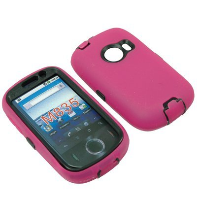 BW Hard Shield Shell Cover Snap On Case for Metro PCS Huawei M835 -Magenta Pink
