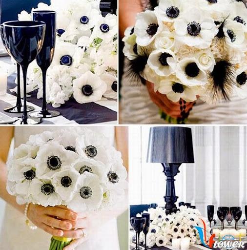 hoa anh túc cho cô dâu từ giấy nhún