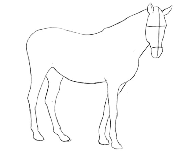 How To Draw A Horse - Draw Central