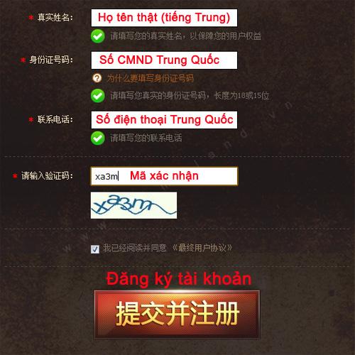 Hướng dẫn đăng ký Mabinogi Heroes (Trung Quốc) 3